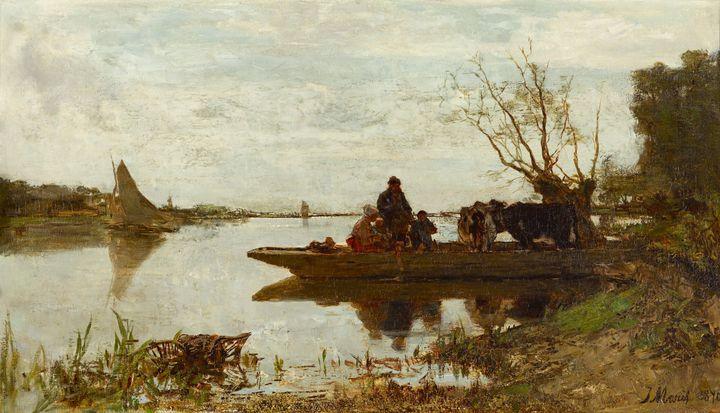 Jacob Maris~Ferry - Classical art