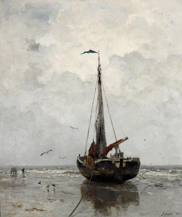 Jacob Maris~Fishing boat - Classical art