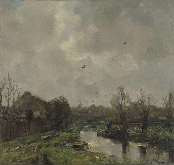 Jacob Maris~Landschap in de omgeving - Classical art