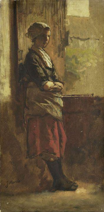 Jacob Maris~Meisje bij het venster - Classical art
