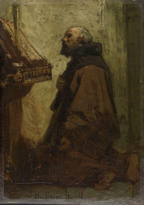 Jacob Maris~Praying Monk (Monk at hi - Classical art