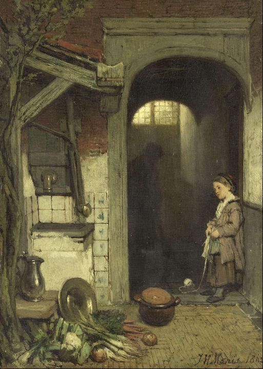 Jacob Maris~Small Courtyard - Classical art