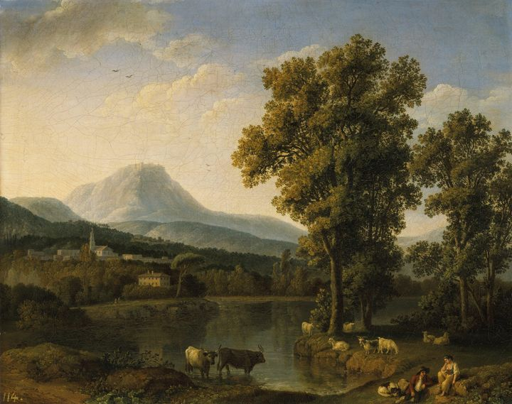 Jacob Philipp Hackert~Landscape near - Classical art