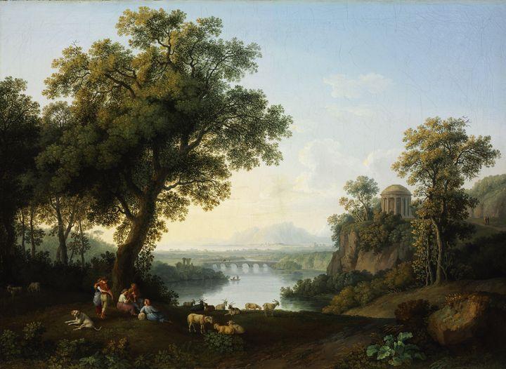 Jacob Philipp Hackert~Riverside Land - Classical art
