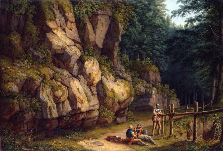 Jacob Philipp Hackert~Rock landscape - Classical art