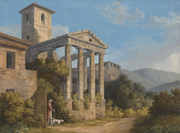 Jacob Philipp Hackert~The Temple of - Classical art