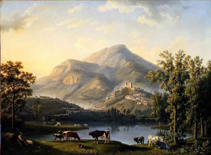 Jacob Philipp Hackert~Veduta d'Itri - Classical art