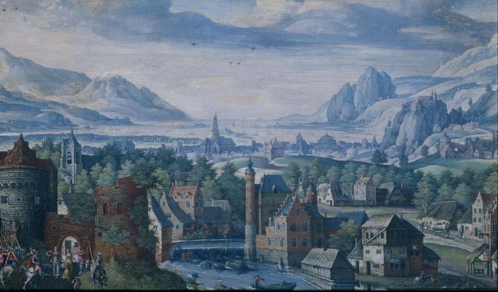 Jacob Savery~Landscape with the stor - Classical art