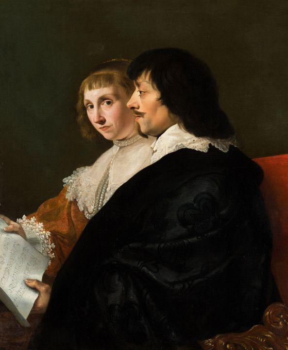 Jacob van Campen~Double Portrait of - Classical art