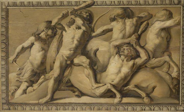 Jacob van Campen~Hercules Slays the - Classical art