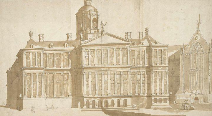 Jacob van der Ulft~Het nieuwe stadhu - Classical art