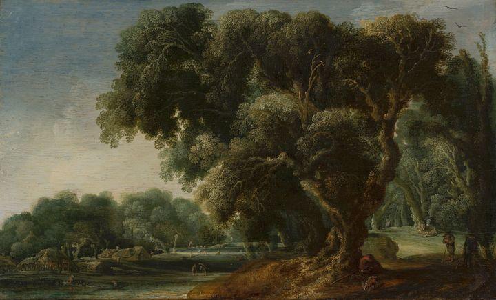 Jacob van Geel~Imaginary Wooded Land - Classical art