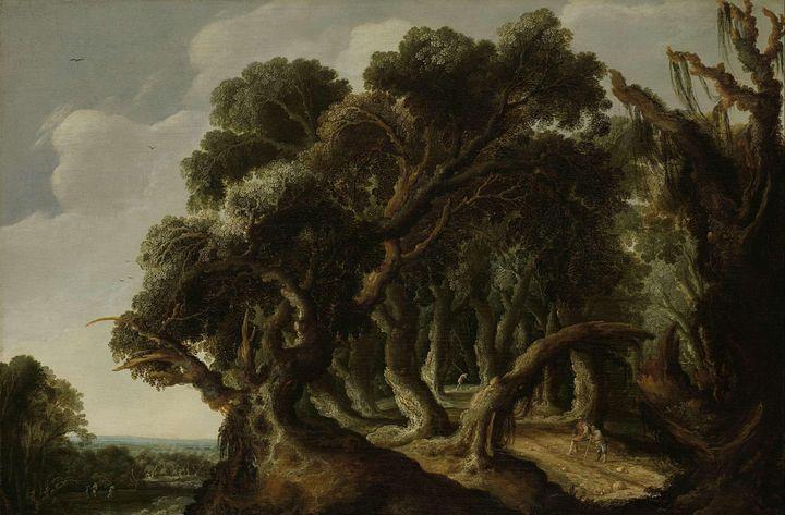 Jacob van Geel~Wooded Landscape - Classical art
