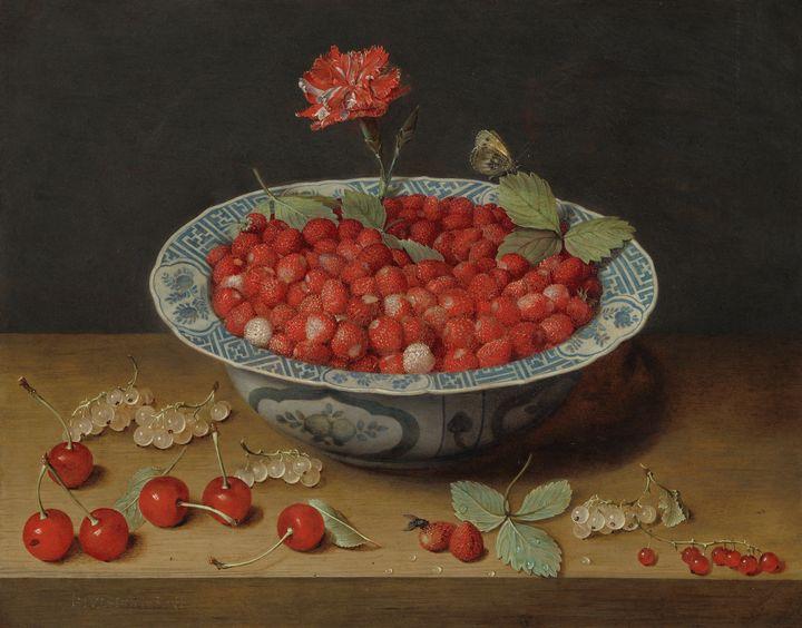 Jacob van Hulsdonck~Wild Strawberrie - Classical art