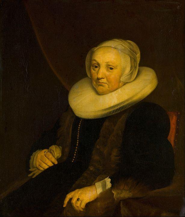 Jacob van Loo~Portrait of a Lady - Classical art