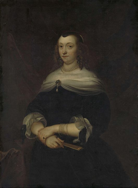 Jacob van Loo~Portrait of a Woman, t - Classical art