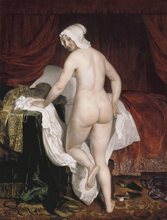 Jacob van Loo~Young Woman Going to B - Classical art