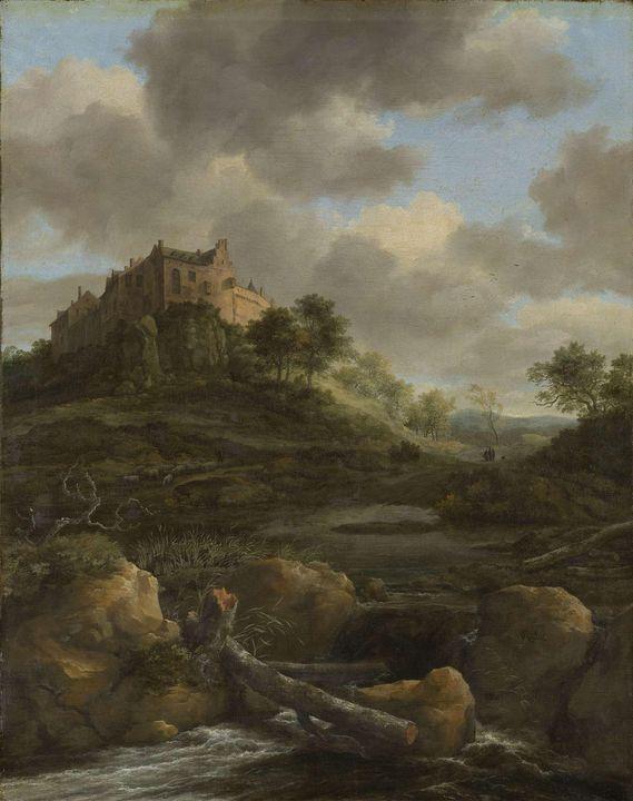 Jacob van Ruisdael~Bentheim Castle - Classical art