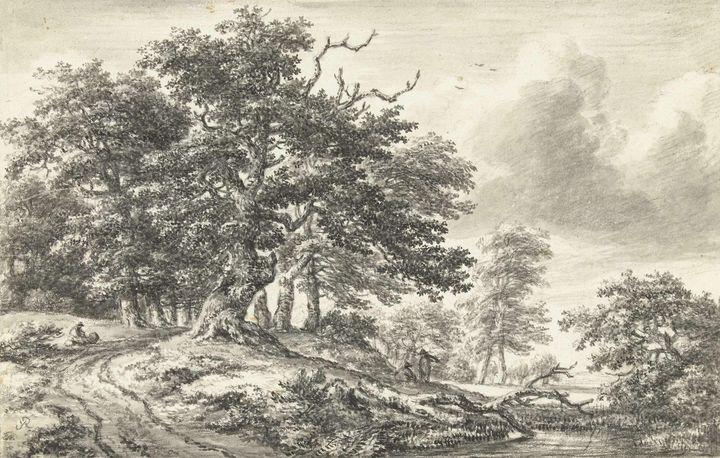 Jacob van Ruisdael~Boslandschap met - Classical art