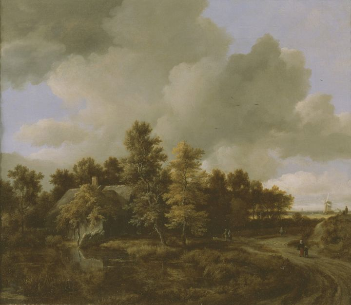Jacob van Ruisdael~Country Road with - Classical art