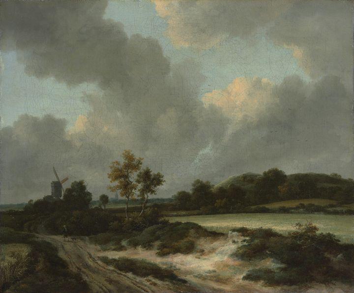 Jacob van Ruisdael~Grainfields - Classical art