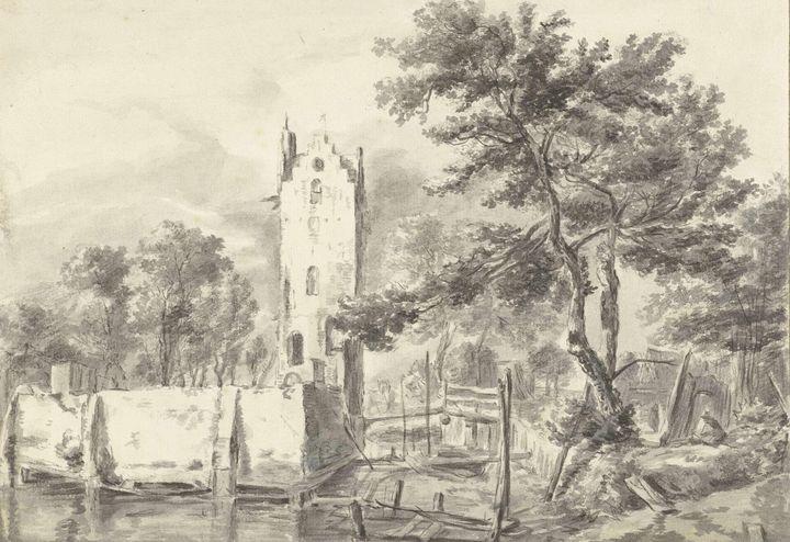 Jacob van Ruisdael~Het huis Kostverl - Classical art