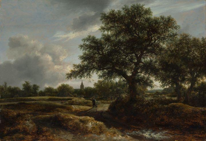 Jacob van Ruisdael~Landscape with a - Classical art