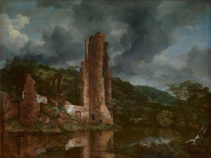 Jacob van Ruisdael~Landscape with th - Classical art