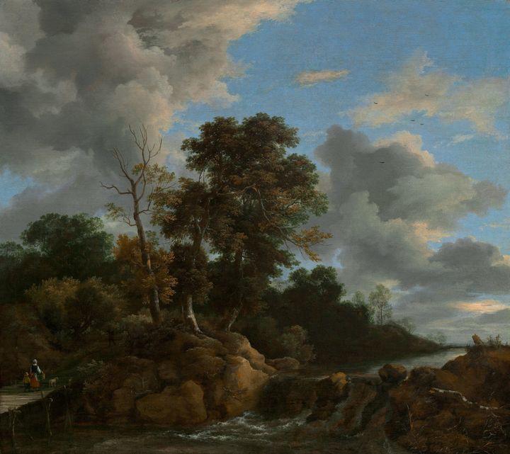 Jacob van Ruisdael~Landscape - Classical art