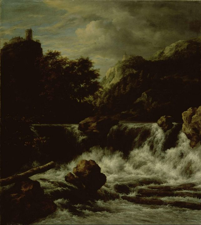 Jacob van Ruisdael~Mountainous Lands - Classical art