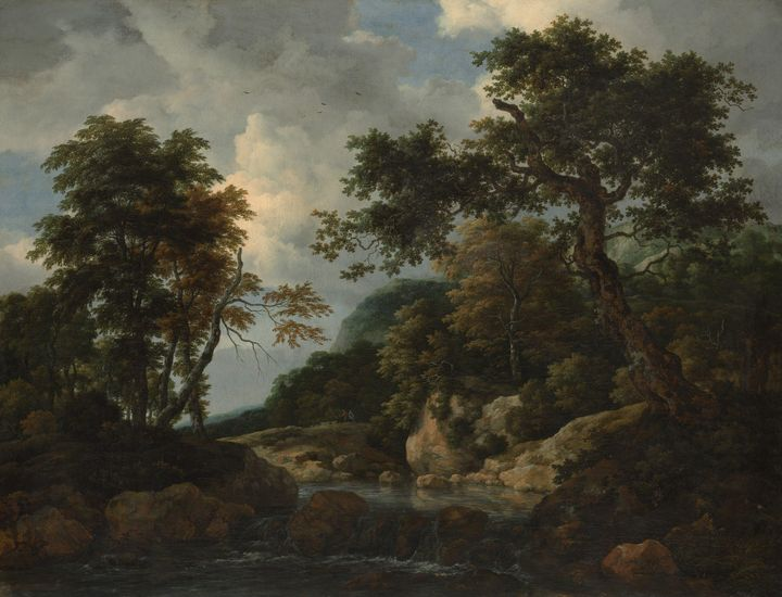 Jacob van Ruisdael~The Forest Stream - Classical art