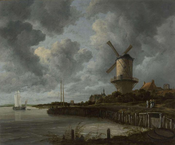 Jacob van Ruisdael~The Windmill at W - Classical art