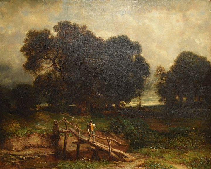 Jacob van Ruisdael~Twilight - Classical art