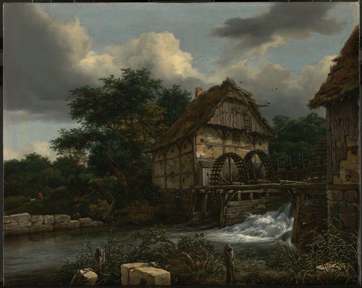 Jacob van Ruisdael~Two Watermills an - Classical art