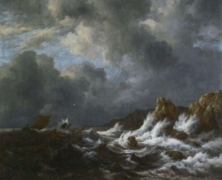 Jacob van Ruisdael~View from the Coa - Classical art