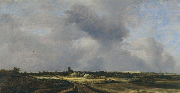 Jacob van Ruisdael~View of Naarden - Classical art