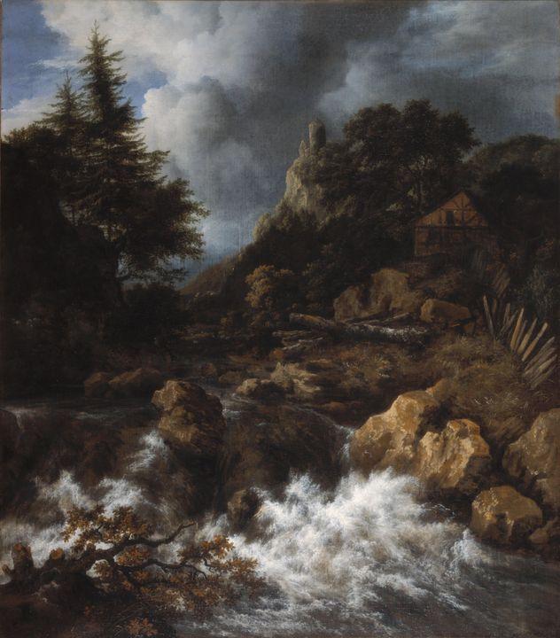 Jacob van Ruisdael~Waterfall with a - Classical art