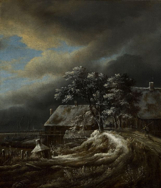 Jacob van Ruisdael~Winter Landscape - Classical art
