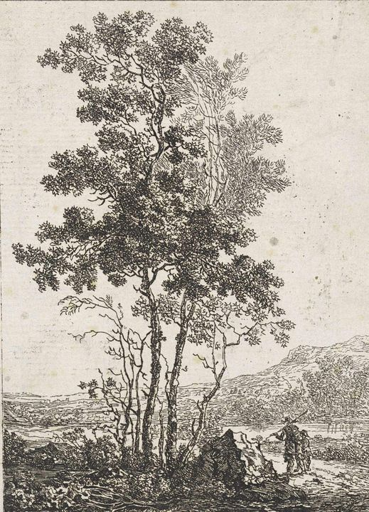 Jacob van Strij~Landschap met hoge b - Classical art