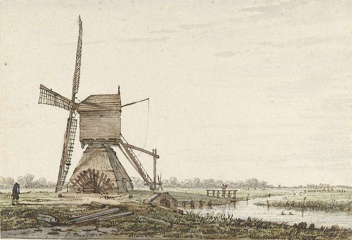 Jacob van Strij~Landschap met polder - Classical art