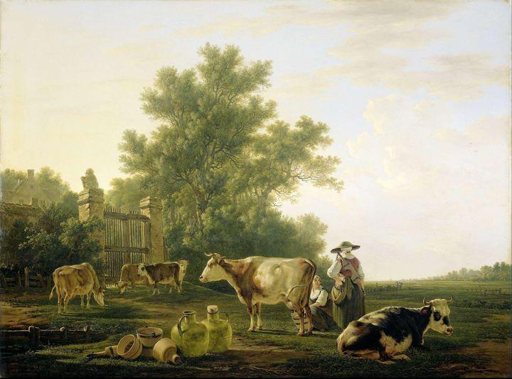 Jacob van Strij~Milking Time - Classical art