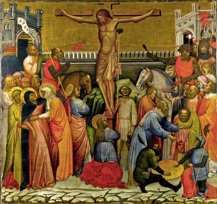 Jacobello del Fiore~Crucifixion - Classical art