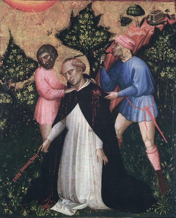 Jacobello del Fiore~Death of St. Pet - Classical art