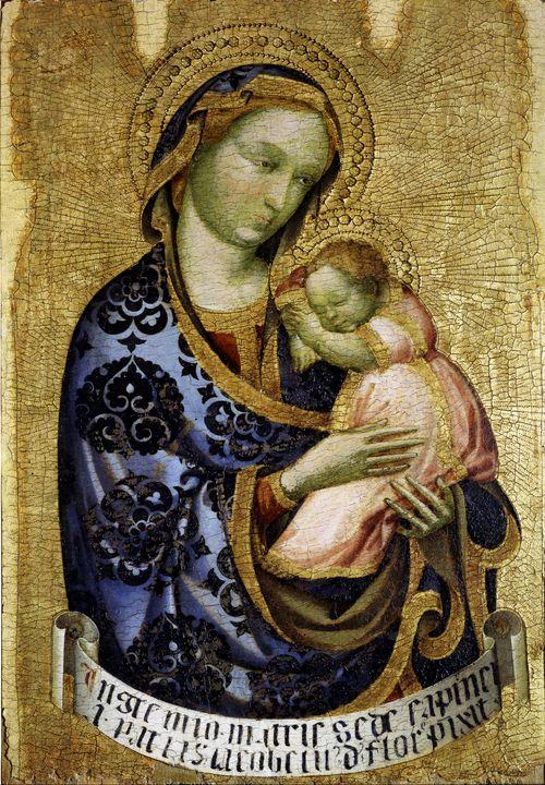 Jacobello del Fiore~Madonna col Bamb - Classical art