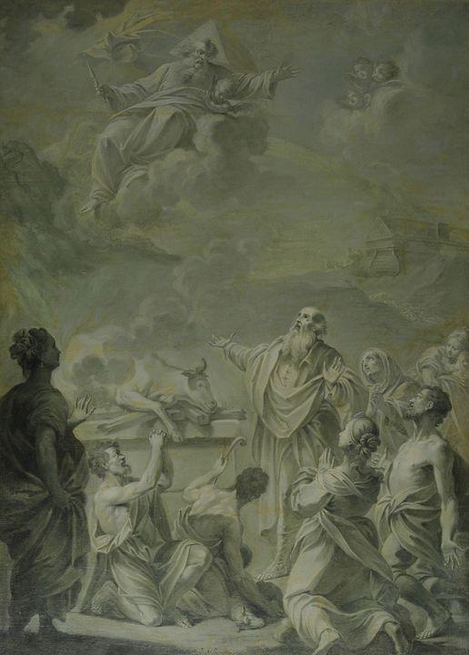 Jacopo Alessandro Calvi~Sacrifice of - Classical art