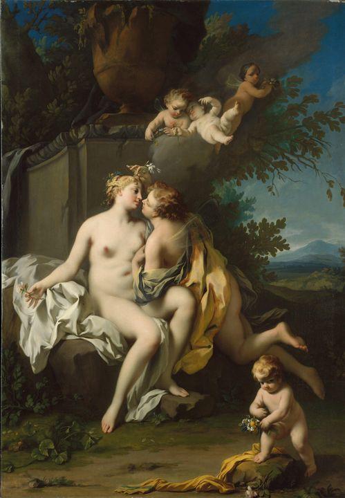 Jacopo Amigoni~Flora and Zephyr - Classical art