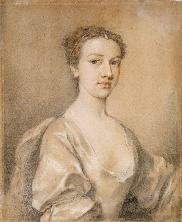 Jacopo Amigoni~Portrait of a Lady - Classical art