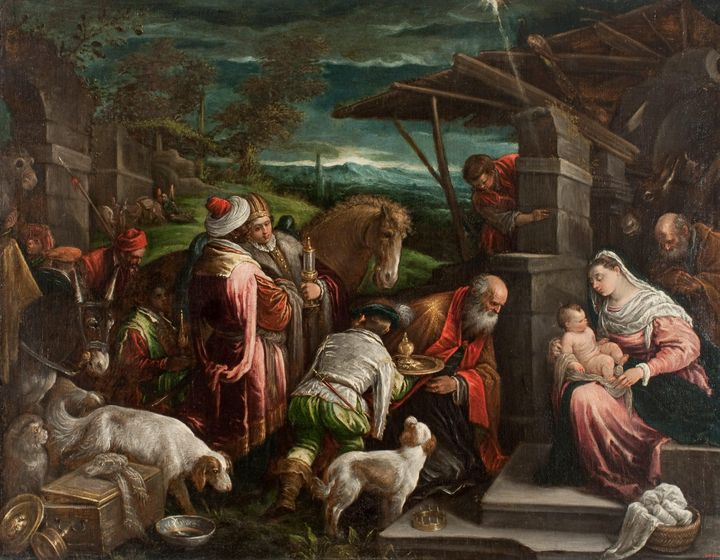Jacopo Bassano~Adoration of the Magi - Classical art