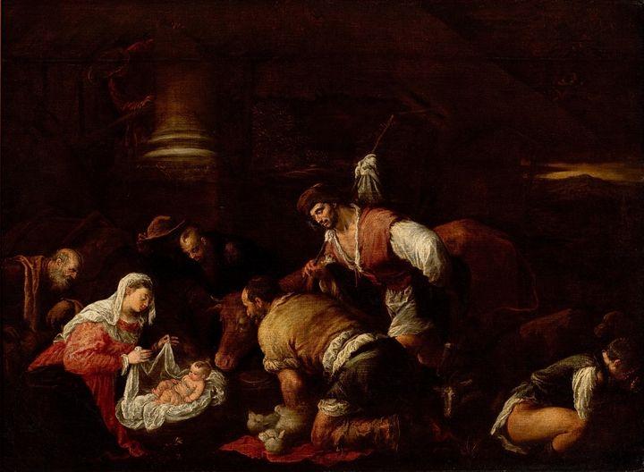 Jacopo Bassano~Adoration of the Shep - Classical art