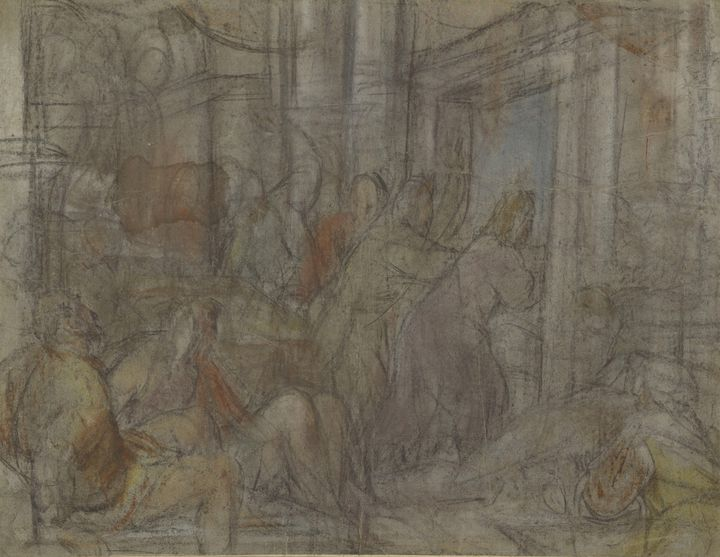 Jacopo Bassano~Christ Driving the Mo - Classical art